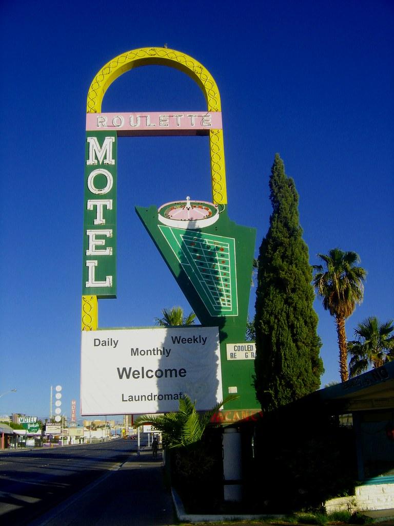 Roulette Motel sign Fremont St E, Las Vegas