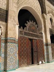 alleycats enjoying the morning sun in fes' medersa bou inania (eikzilla) Tags: school cats islam courtyard arabic morocco fez maroc marokko fes islamic bou koran medersa inania