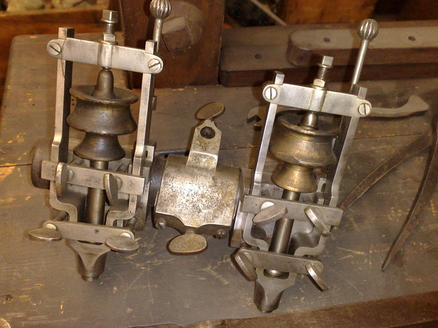 Part of James Watts sculpture copying machine by mia