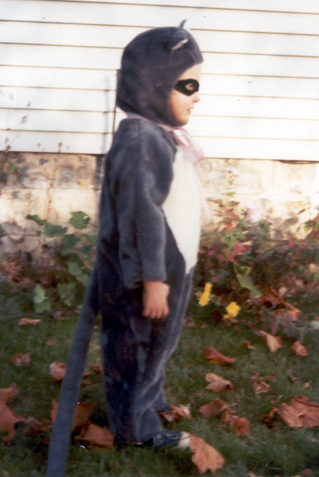 Sister - Racoon Costume - Side (Click to enlarge)