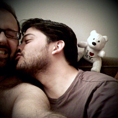 """Bear Love"" (1 of 2): The Kiss that Tickles (Sion Fullana) Tags: hairy love square us kiss beards happiness squareformat laugh helga allrightsreserved iphone bearlove greatmoment 500x500 iphonephotography iphoneshots sionfullana camerabagapp sionfullanasphotography antonandi iphoneography iphoneographer sionfullana helgastyle throughthelensofaniphone"