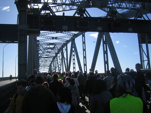 Crowds on the Harbour Bridge by thescarletmanuka.