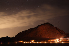 Valley of Mandar by night (**Anik Messier**) Tags: longexposure sunset sky mountains clouds stars lights nightshot desert egypt sharmelsheikh ciel moonrise valley nuages discovery soe coucherdesoleil toiles montagnes dsert valle gypte blueribbonwinner sigma30mmf14 citrit valleyofmandar sharmelsheikhtour