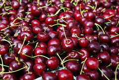 cherry oh baby (ksuwildkat) Tags: california red food monterey yummy cherries pentax farmersmarket song organic californai ub40 ilovecalifornia thisiscalifornia k200d pentaxk200d cherryohbaby pentaxda1855mmf3556alii