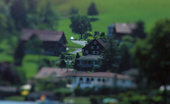 Minature Lucern Home (cwgoodroe) Tags: sun mountain lake snow alps green church statue ferry fairytale swimming switzerland boat europe locals suisse swiss sunny location farms movieset luce swissalps lucern medivil beerpasture