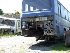 Old bus in the scrapyard (Scrawb) Tags: ireland diesel junkyard scrapyard dieselengine oldbus manbus mandieselengine