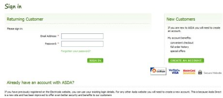 Asda registration