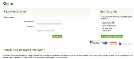 Asda registration