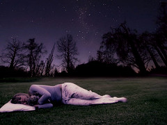 Sleep tight (Chantel Baggley) Tags: trees sleeping beautiful grass wonderful stars calming vivid shades pillow explore dew stuffedanimal resting sleepingbeauty bigdipper thestars littledipper youngphotographers explored sunfaded purpleshades darkshades sunfades chantelbaggley teenagephotograhers