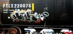 wak (mightyquinninwky) Tags: rain geotagged switch graffiti rainyday tag tracks tags tagged railcar rails spraypaint graff graphiti tanker trainyard trainart paintedtrain freightyard railart wak spraypaintart severethunderstorms evansvilleindiana paintedtanker howellarea geo:lon=87608151 geo:lat=37965254