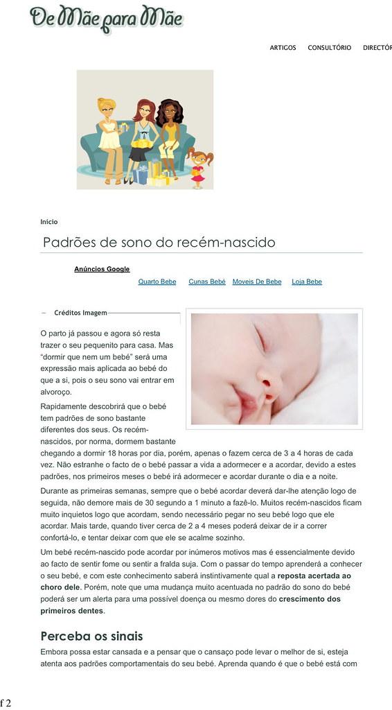 Padrões de sono do recém-nascido