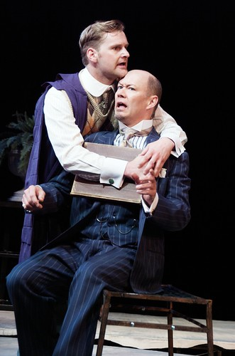 Andrew Carlson and Michael Fitzpatrick in Love's Labour's Lost (Great River Shakespeare Festival-2009) dir. Paul Barnes