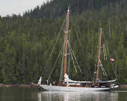 canada sailboat bc britishcolumbia sailingship ketch vintagesailboat hmcsoriole vintagesailingships vintageketch hermajestyscanadiannavy