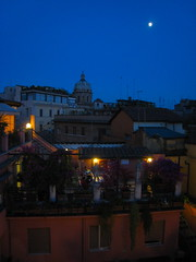 Rooftop View of San Carlo ai Catinari at Night (ZanyShani) Tags: trip italy rome roma june italia 2009 albergodelsole sancarloaicatinari solealbiscione albergosole