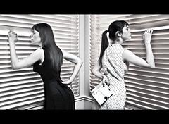 176/365 June 25, 2009 (laurenlemon) Tags: portrait monochrome interestingness dress widescreen rip multiplicity polkadots michaeljackson letterbox 365 clone 365days explored june09 canoneos5dmarkii laurenrandolph laurenlemon
