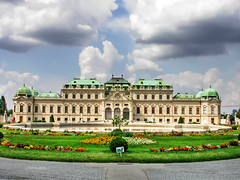 The Symmetry of Things (Faddoush) Tags: vienna sky museum architecture clouds nikon palace symmetry belvedere hdr faddoush