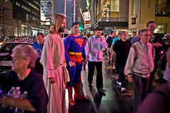 I did not know Jesus & Superman hang out (A.C.Thamer) Tags: street light canon losangeles sock funny mj jesus balls freaky superman hollywood michaeljackson tribute disturbed package lightroom manwhore stuffer supersack thamerphotography acthamer alexthamer