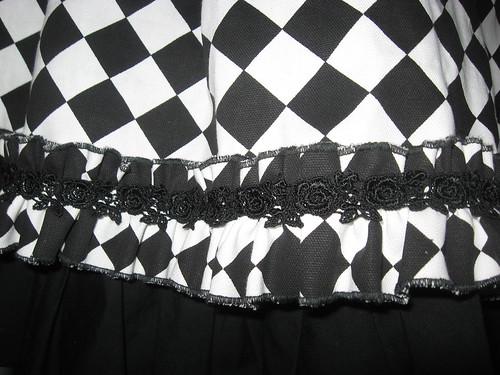 Diamond Check Bustle Overskirt 010