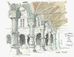 Liège, Palais (gerard michel) Tags: architecture sketch belgium aquarelle watercolour liège croquis