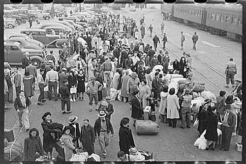 Japanese Americans Awaiting Relocation California 1942