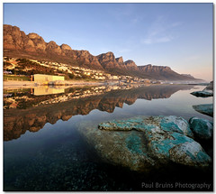 Camps Bay Reflected (Panorama Paul) Tags: sunset reflections bravo twelveapostles reflexions tablemountain campsbay tidalpool nohdr sigmalenses nikfilters anawesomeshot vertorama nikond300 wwwpaulbruinscoza paulbruinsphotography