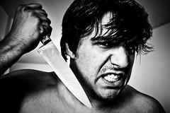 A faca! (Lucas Steckelberg) Tags: auto portrait selfportrait self retrato suicide autoretrato knife faca suicidio pescoo faco downtoup debaixopracima contraplongee callingdeath