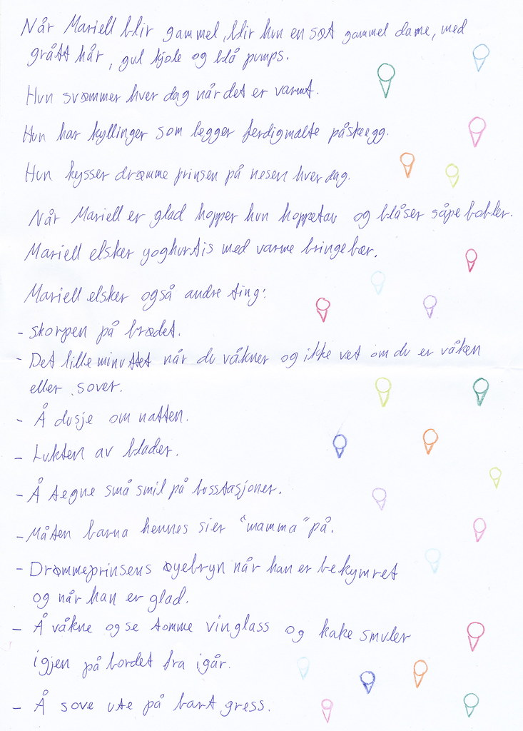 a scanned letter.