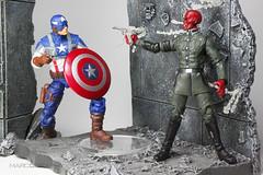 Captain America and Red Skull, Captain America Movie Figure (makingmymarc) Tags: captainamerica redskull captainamericamovieactionfigures