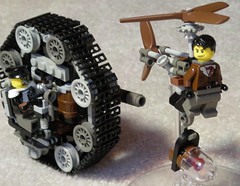 Steampunk Jetpack Pursuit 8631 (aillery) Tags: war lego military great remix steam agents jetpack steampunk persuit