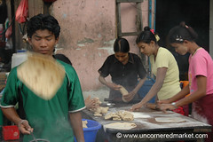 Chapati Line in Mandalay