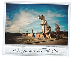 A note from Pee Wee (isayx3) Tags: 35mm giant polaroid big lomo nikon adventure instant d3 cabazon dinos peewees of