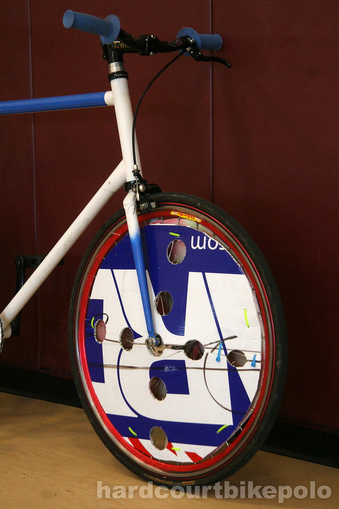 Tucker's hardcourt polo bike front wheel