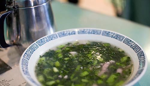 pork with salty veg soup