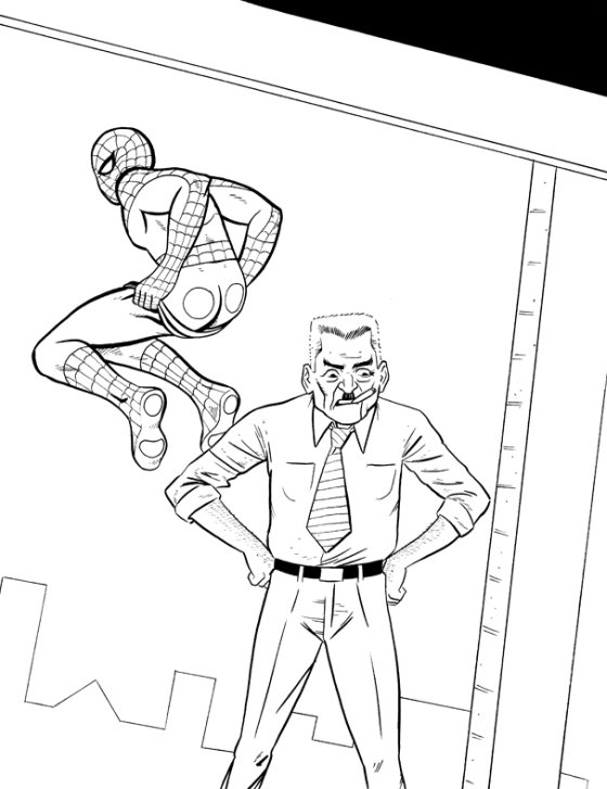 J Jonah Jameson (And Spidey's Butt) by Paul Salvi