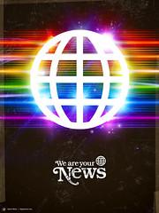 The Network (James Whte) Tags: art illustration dark print poster design fear retro showcase economy crisis peril networks govern jameswhite masscommunication signalnoisecom