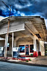 Abandonded Peach Springs Gas Station (inspir8tion) Tags: arizona abandoned cloudy stormy gasstation haunted deserted hdr peachsprings hdraward