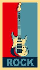 Guitar Playin' Dude! (Kiki FL) Tags: music color rock poster guitar obama guitarist stratocaster rockandroll celticrock