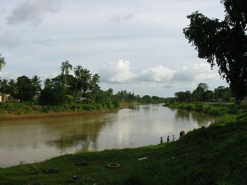 Zicht op de rivier