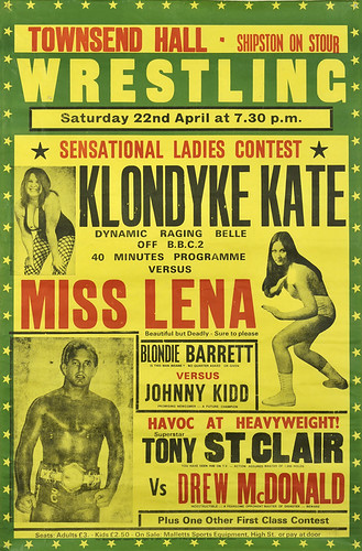 wrestling poster, shipton on stour