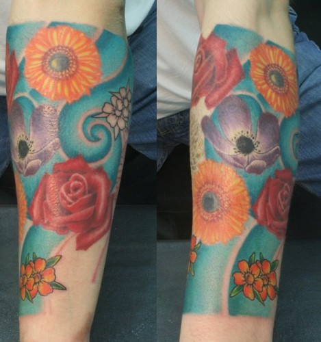 flowers tattoo www.bodydragon.com by DRAGON TATTOO STUDIO AND SUPPLY in