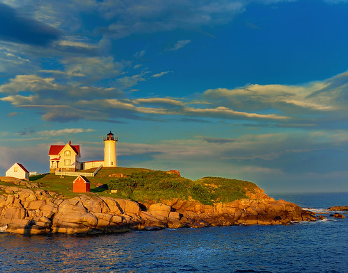 Nubble (Cape Neddick) Lighthouse - York, Maine (HDR) by joep373526.