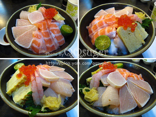 你拍攝的 綜合海鮮丼平裝版。