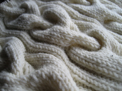 Cabled Baby Blanket by you.