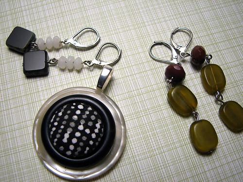 pendant & earrings for mel