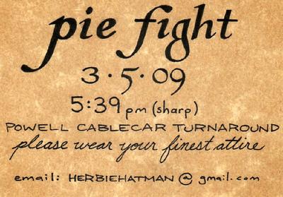 Pie Fight in Formal Attire