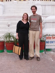 Amy and me in Bodnath