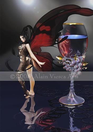 Merlot Fairy by Alain Viesca