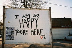 I Am so HAPPY You're Here (lola smalls) Tags: atlanta film 35mm analoggirls canonsureshot120c