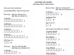Autumn of Glory - Unit Status Sheet