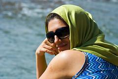 (divya babu) Tags: summer portrait woman india lady river friend sunny ganga rishikesh uttarakhand